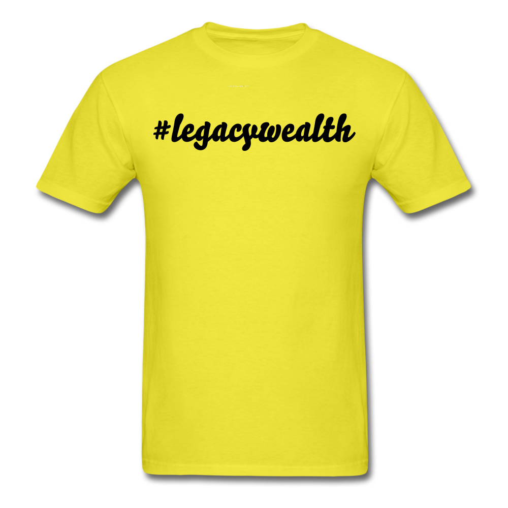 #legacywealth Unisex Classic T-Shirt - yellow