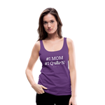 #1 MOM Women's Longer Length Fitted Tank - purple