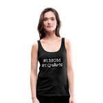 #1 MOM Women's Longer Length Fitted Tank - charcoal gray