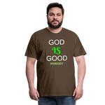 God Is Good Men's Premium T-Shirt - noble brown