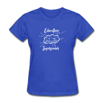 Education is My Superpower Women's T-Shirt - royal blue