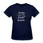 Education is My Superpower Women's T-Shirt - navy