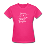 Education is My Superpower Women's T-Shirt - fuchsia