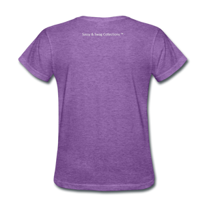 Education is My Superpower Women's T-Shirt - purple heather