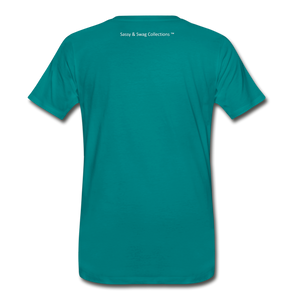 Education is My Superpower Men's Premium T-Shirt - teal