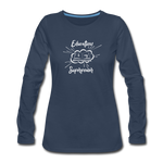 Education is My Superpower Women's Long Sleeve T-Shirt - navy