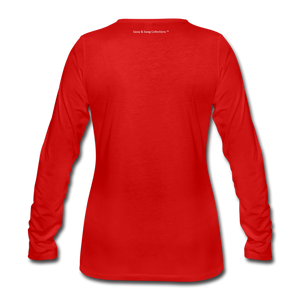 Education is My Superpower Women's Long Sleeve T-Shirt - red