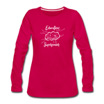 Education is My Superpower Women's Long Sleeve T-Shirt - dark pink