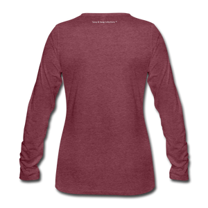 Education is My Superpower Women's Long Sleeve T-Shirt - heather burgundy