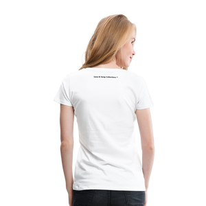 Jesus Take the Wheel Women's Premium T-Shirt - white