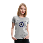 Jesus Take the Wheel Women's Premium T-Shirt - heather gray