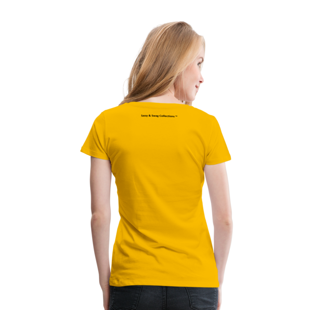 Jesus Take the Wheel Women's Premium T-Shirt - sun yellow