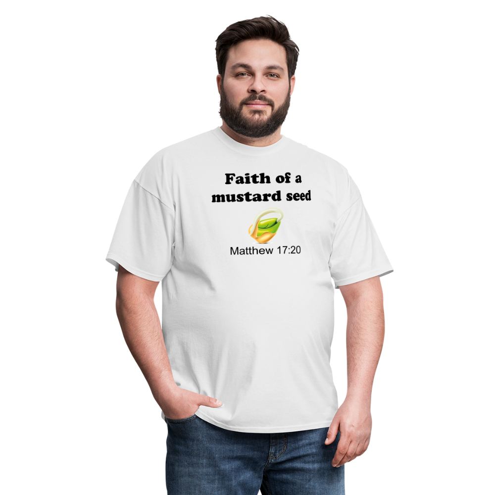 Faith of a Mustard See Men's T-Shirt - white