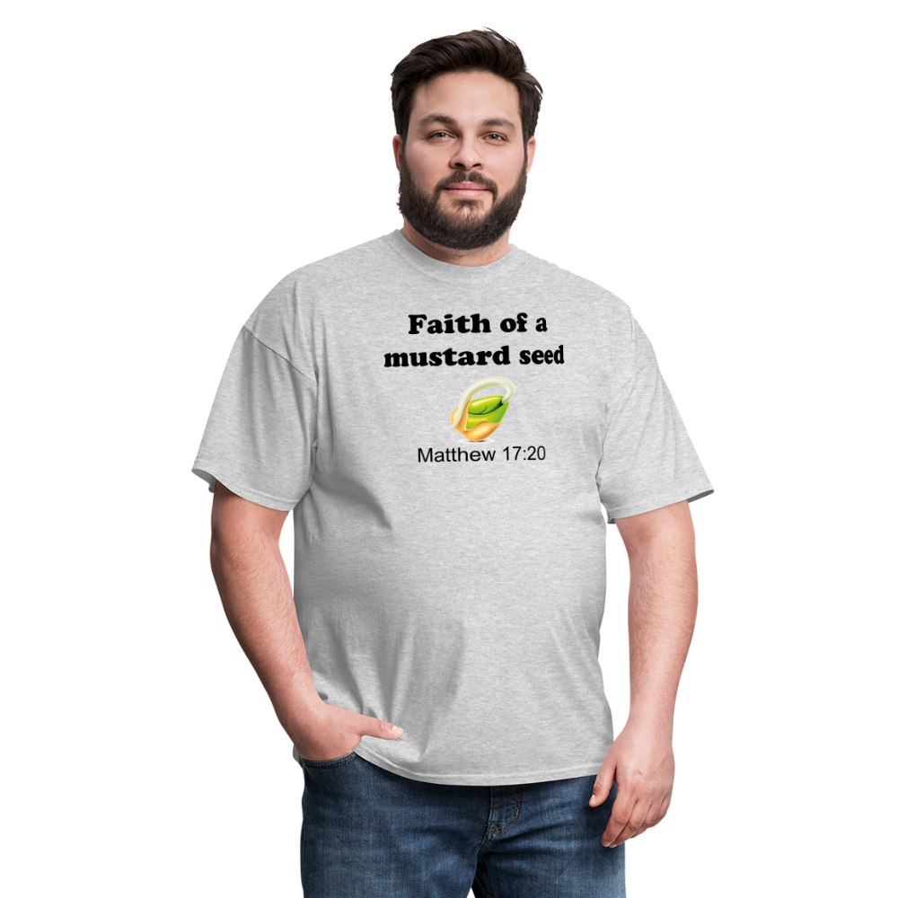 Faith of a Mustard See Men's T-Shirt - heather gray