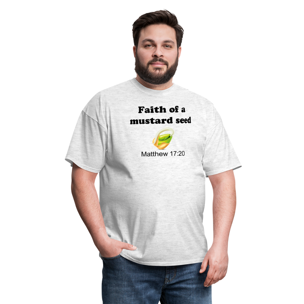 Faith of a Mustard See Men's T-Shirt - light heather gray