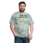 Faith of a Mustard See Men's T-Shirt - military green tie dye
