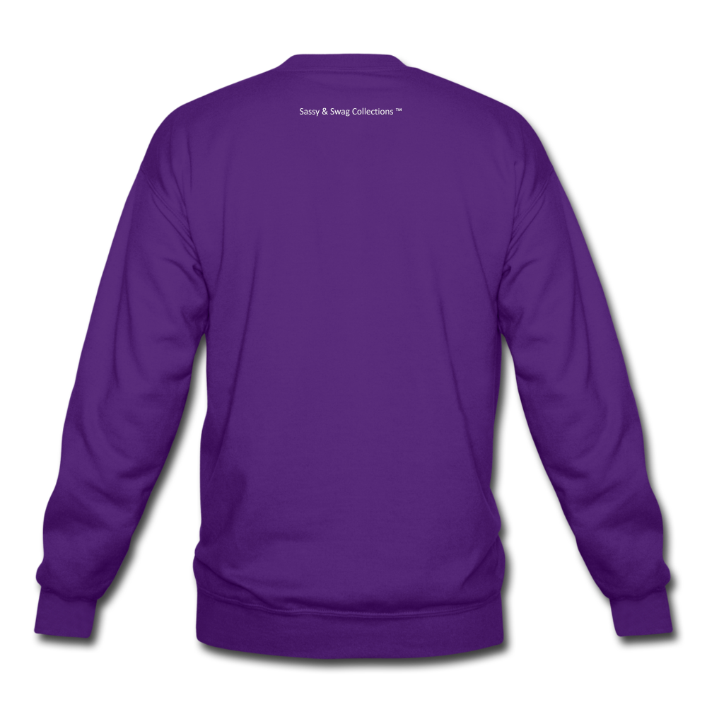 Created To Win Unisex Crewneck Sweatshirt - purple