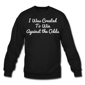 Created To Win Unisex Crewneck Sweatshirt - black