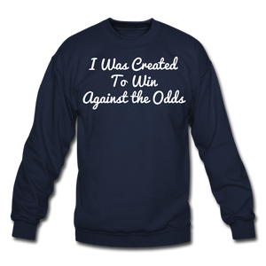 Created To Win Unisex Crewneck Sweatshirt - navy