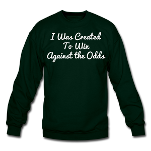 Created To Win Unisex Crewneck Sweatshirt - forest green