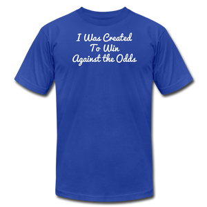Created To Win Unisex Jersey T-Shirt - royal blue