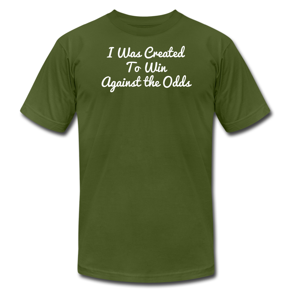 Created To Win Unisex Jersey T-Shirt - olive