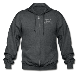 Put on the Armor of God Gildan Heavy Blend Adult Zip Hoodie - deep heather