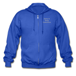 Put on the Armor of God Gildan Heavy Blend Adult Zip Hoodie - royal blue