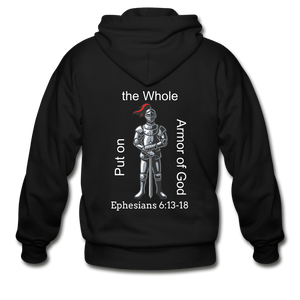 Put on the Armor of God Gildan Heavy Blend Adult Zip Hoodie - black