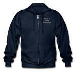 Put on the Armor of God Gildan Heavy Blend Adult Zip Hoodie - navy