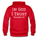 In God I Trust Unisex Heavy Blend Hoodie - red