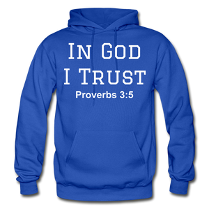 In God I Trust Unisex Heavy Blend Hoodie - royal blue