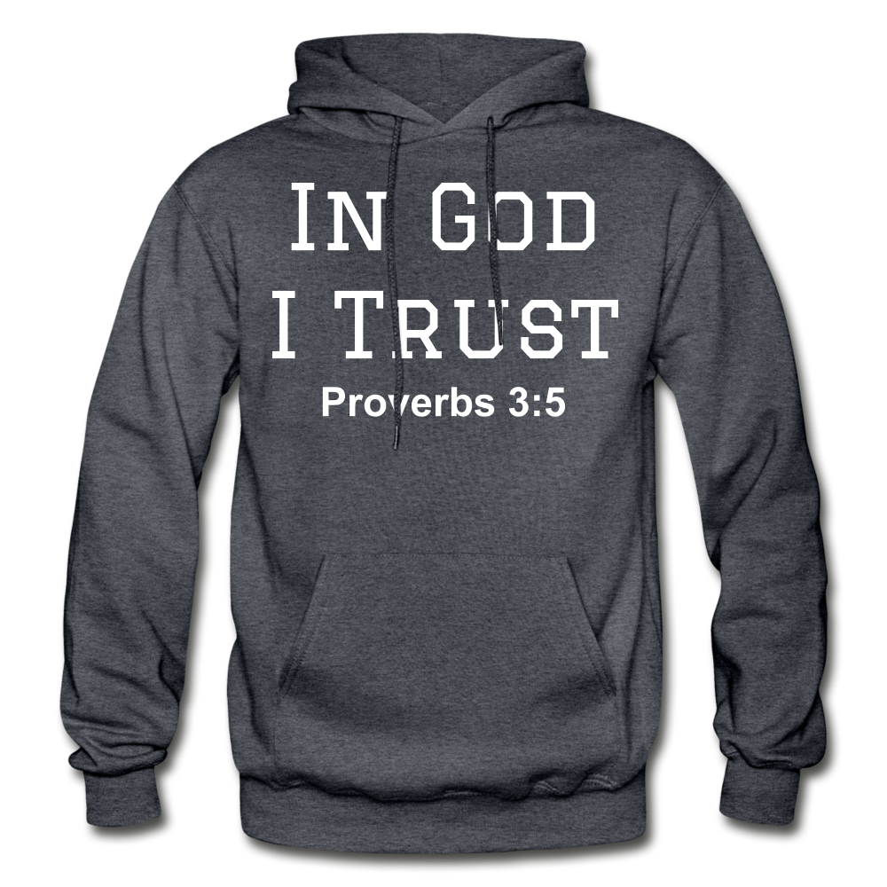 In God I Trust Unisex Heavy Blend Hoodie - charcoal gray