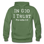 In God I Trust Unisex Heavy Blend Hoodie - military green