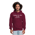 Nothing's Too Hard for God Men's Hoodie - burgundy