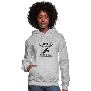 Locked and Loaded Women's Hoodie - heather gray