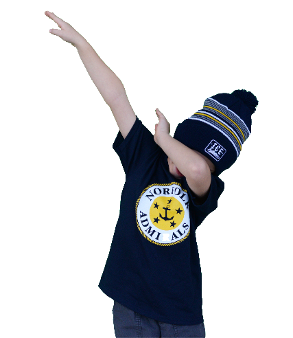 YOUTH APPAREL-Youth Navy Logo T