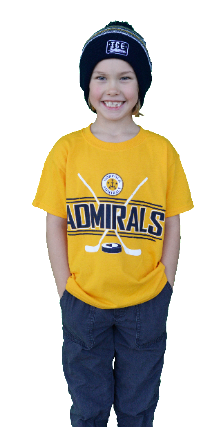 Youth Apparel-Yellow Hockey Sticks T