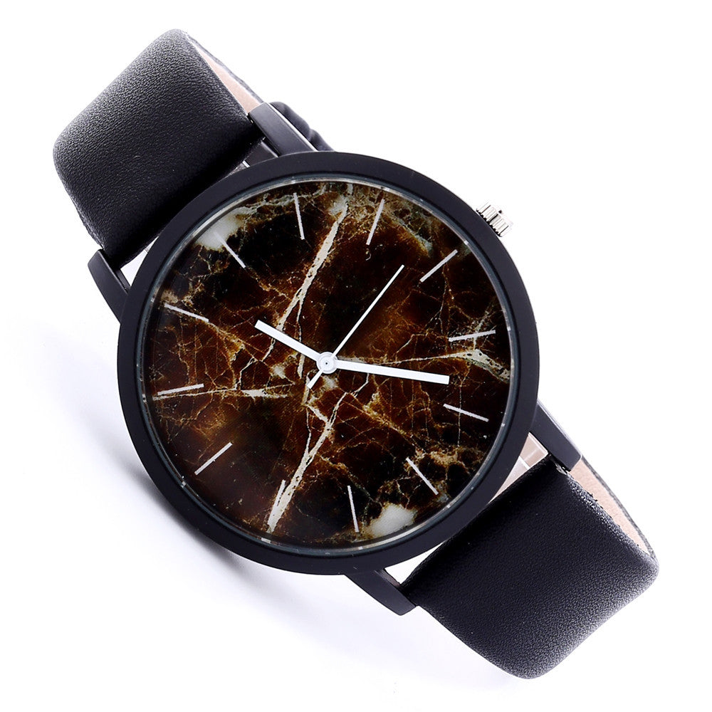 NEUTRALBLU MARBLE LEATHER BELT WRISTWATCH  - NeutralBlu Genderless Gender Neutral Fashion Clothing Line