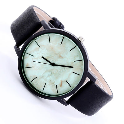 NEUTRALBLU MARBLE LEATHER BELT WRISTWATCH  - NeutralBlu Genderless Gender Neutral Fashion Clothing Line Androgynous Clothing Unisex