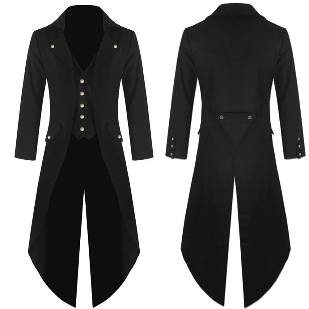 NEUTRALBLU RETRO GOTHIC FROCK COAT  - NeutralBlu Genderless Gender Neutral Fashion Clothing Line