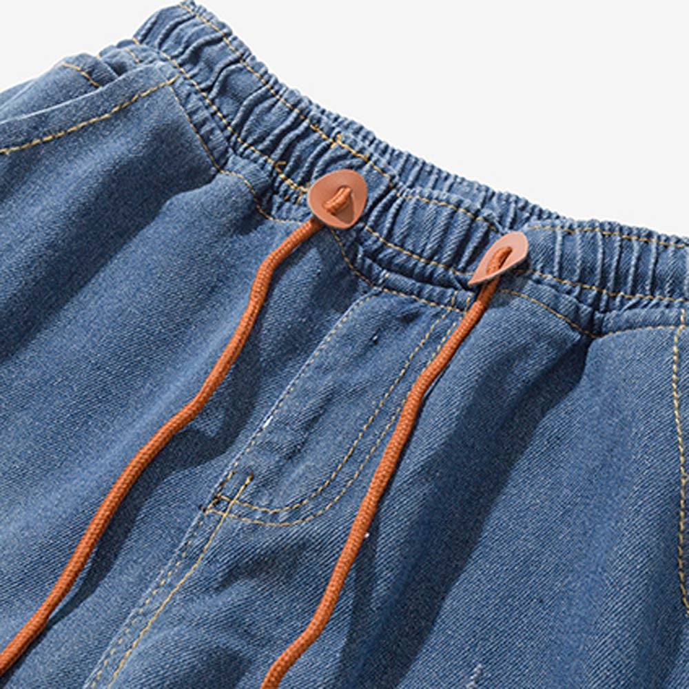 NEUTRALBLU NAVY CASUAL COTTON DENIM VINTAGE HIP-HOP JEANS  - NeutralBlu Genderless Gender Neutral Fashion Clothing Line
