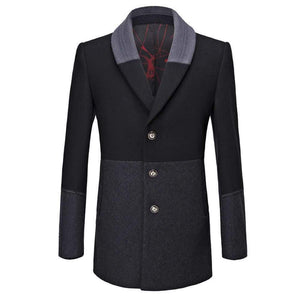 NEUTRALBLU BUSINESS-STYLE SLIM TRENCH OVERCOAT  - NeutralBlu Genderless Gender Neutral Fashion Clothing Line