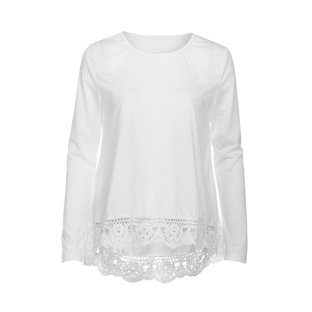 NEUTRALBLU LACE SLEEVE COTTON BLOUSE TOP  - NeutralBlu Genderless Gender Neutral Fashion Clothing Line