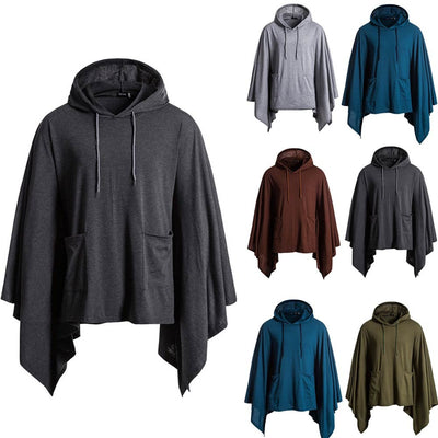 NEUTRALBLU PATCHWORK CAPED HOODIE  - NeutralBlu Genderless Gender Neutral Fashion Clothing Line Androgynous Clothing Unisex