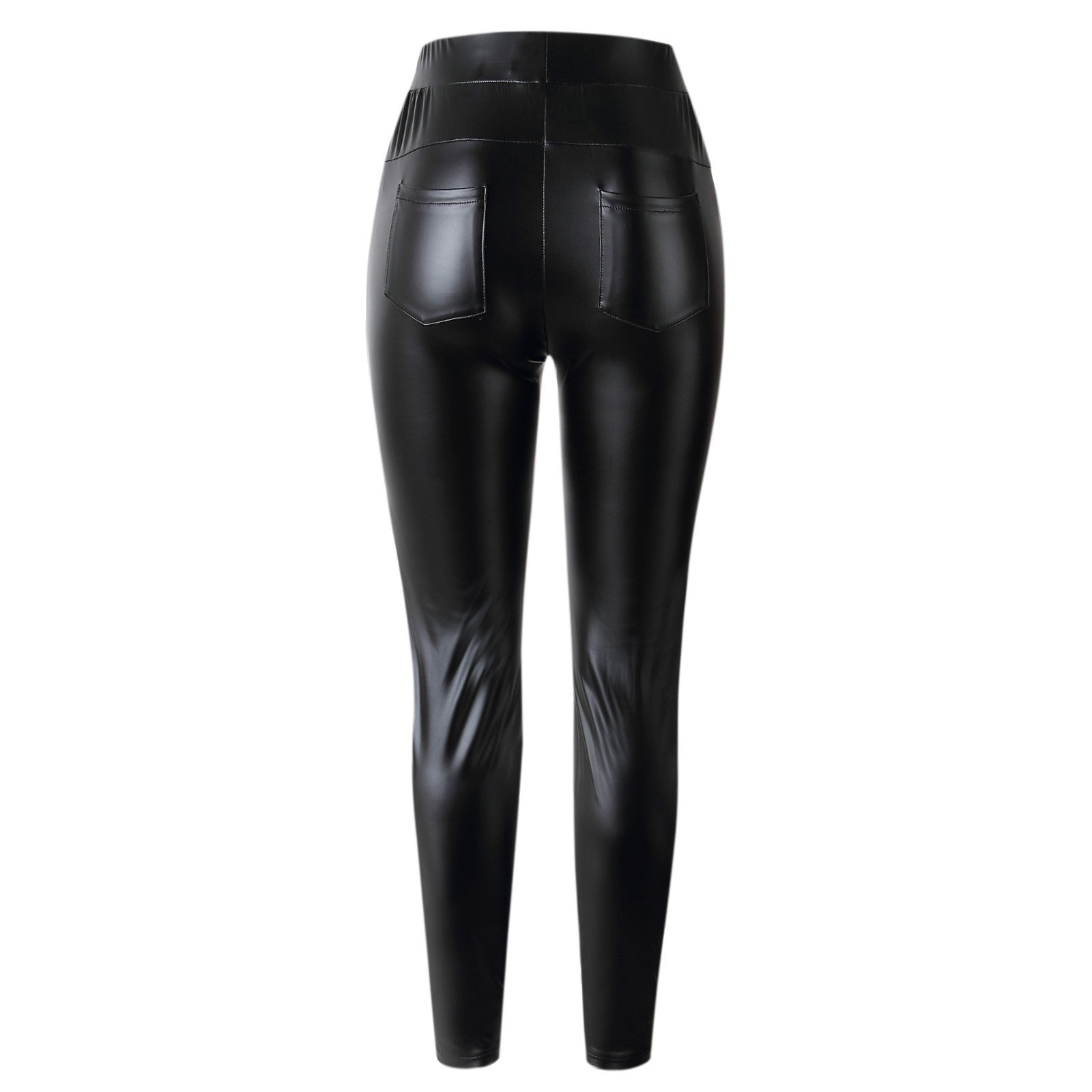 NEUTRALBLU SLIMFIT LEATHER PANTS WITH POCKETS  - NeutralBlu Genderless Gender Neutral Fashion Clothing Line