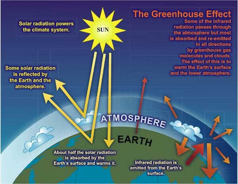 This diagram shows the greenhouse effect.