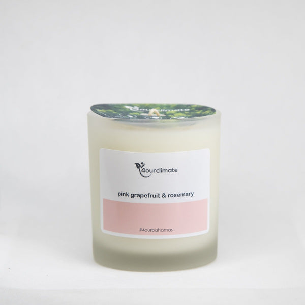 Pink Grapefruit and Rosemary Soy Candle - 8.5 oz Frosted Glass, 65+ Hrs Limited Edition
