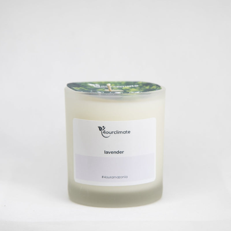 Lavender Soy Candle - 8.5 oz Frosted Glass, 65+ Hrs Limited Edition