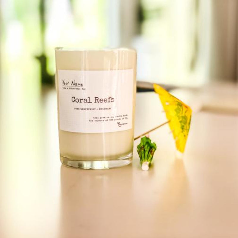 Coral Reef Soy Candle - Pink Grapefruit & Rosemary